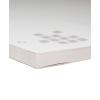 Blok met stevig grijs karton als onderlaag