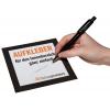 Indoor stickers (voor toepassingen binnen) als beschrijfbaar 73 g/m² zelfklevend papier. Zijn heel eenvoudig met balpen beschrijfbaar