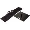 Tas (inclusief) en bodemplaat (optioneel) met afmetingen 49 x 49cm en een gewicht van 15 kg