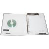 Optioneel met gelaste transparante PVC-insteekhoes voor visitekaartjes en CDs