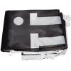 Bij de levering inbegrepen: bedrukte, opgevouwen vlag voorzien van kunststof haak