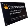 Kleurloze 4 mm plexiglasborden met hoogwaardige uitstraling voor binnen en buiten (afb. soortgelijk).