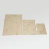 Het bruine gemarmerde karton in de drie verkrijgbare formaten
