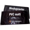 Spandoeken van 500 g/m² PVC mat en 300 g/m² meshdoek, met optionele zeilogen rondom (soortgelijke afbeelding)