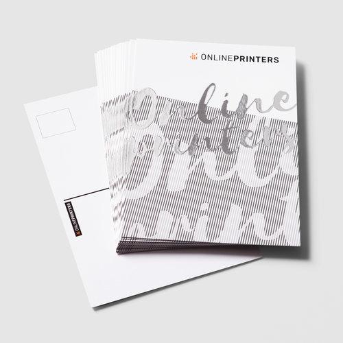 Postkaarten met gedeeltelijke zilverfolie