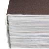 Hotmelt of PUR-verlijming: de rug van het boekblok wordt opgeruwd en in de omslag gelijmd