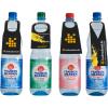 PET-flessen met 4 verschillende halslabelvormen