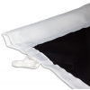 Voor vlaggenmasten met banierhouder -  voorzien van omgezoomde holle zoom voor de banierstang (doorsnede max. 3 cm)