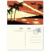 Voorbeeld: Voor- en achterzijde (individueel, postzegels zijn niet inbegrepen bij de levering)