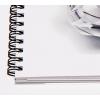 Uitvergroting van de spiraal van ons papierstalenboek