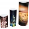 Display in cilindervorm, verkrijgbaar in drie verschillende maten