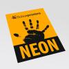 Neonpapier oranje (afb. soortgelijk)